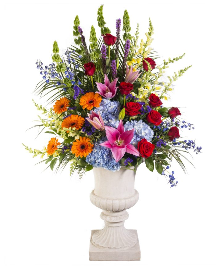 Heavenly Garden Pedestal Arrangement