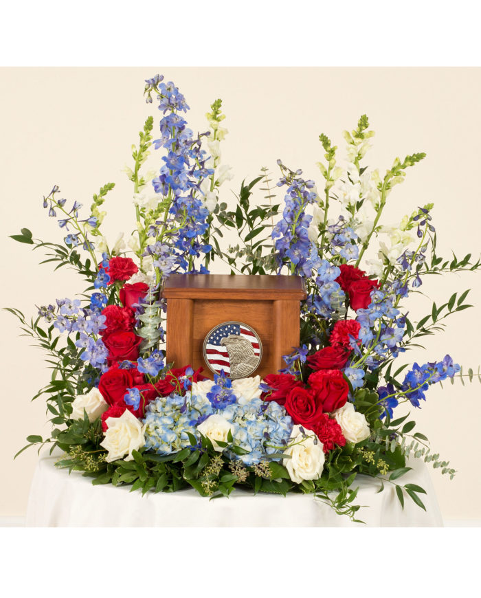 Patriotic Cremation  Arrangement