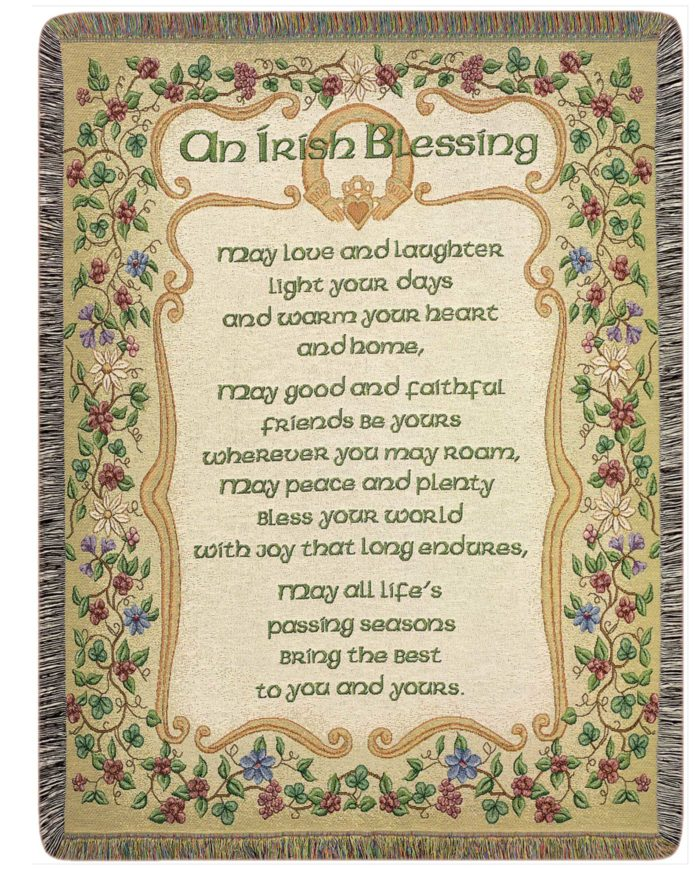 AFGHAN - IRISH BLESSING