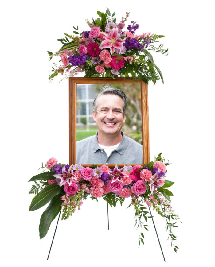 Loving Grace Picture Memorial Arrangement